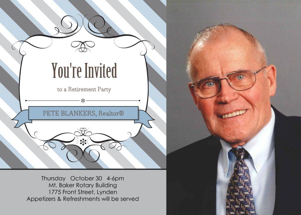 Pete Blankers invite